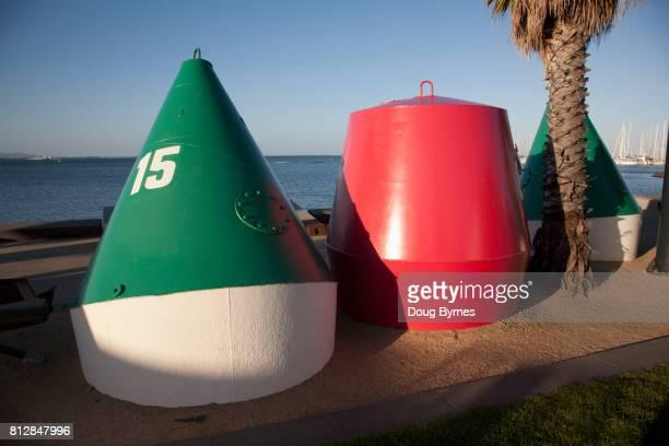 Buoys at the beach