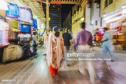 Bur Dubai, the Textile Souk : Stock Photo