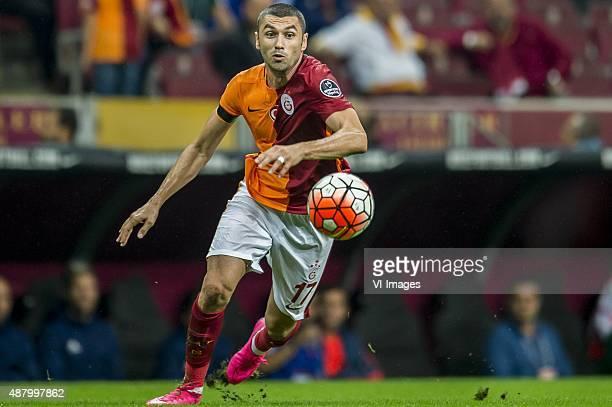 Burak Yilmaz of Galatasaray during the Turkish Super Lig match between Galatasaray and Mersin Idmanyurdu on September 12 2015 at the Turk Telekom...