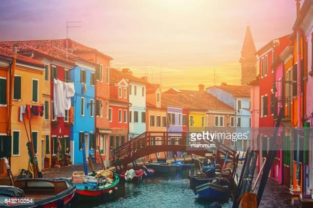ブラーノ島、ヴェネツィア、イタリアに近い小さな漁村