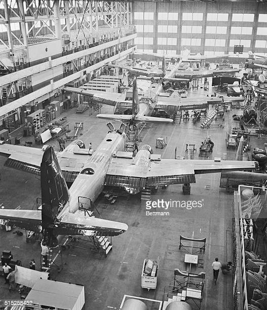 Neptune Spawning Ground The new Lockheed Aircraft Corporation P2V7 Neptune goes through four stages in its straight line final assembly line working...