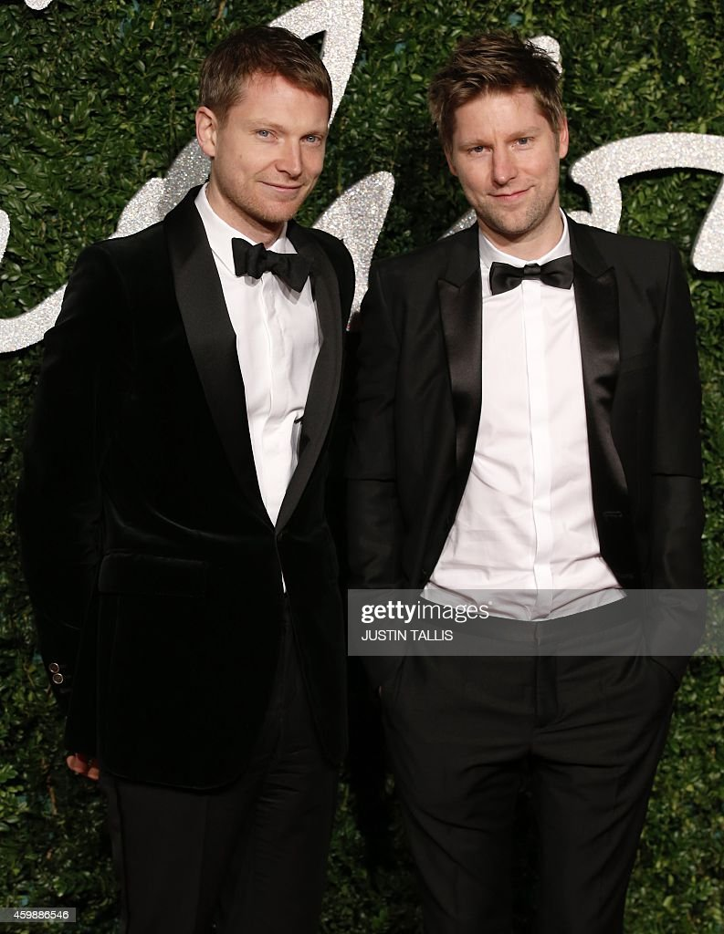 Burberry CEO Christopher Bailey poses for pictures on the red carpet upon arrival to attend the British Fashion Awards 2014 in London on December 1...