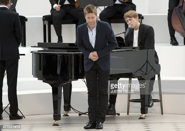 Burberry chief creative officer and chief executive officer Christopher Bailey takes a bow after the British design house Burberry Prorsum catwalk...