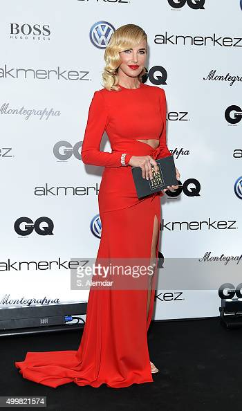 Burcu Esmersoy attends the GQ Men of the Year Awards at Four Season Bosphorus Hotel on December 3 2015 in Istanbul Turkey