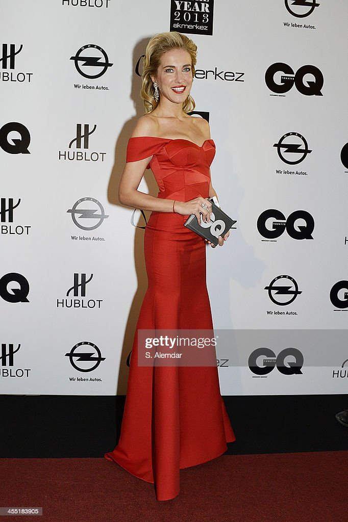 Burcu Esmersoy attends the GQ Turkey Men of the Year awards at Four Seasons Bosphorus Hotel on December 11, 2013 in Istanbul, Turkey.