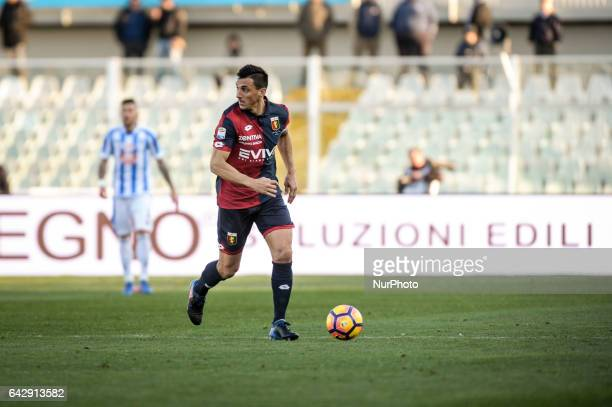 Burdisso Nicolas during the Italian Serie A football match Pescara vs Genoa on February 19 in Pescara Italy