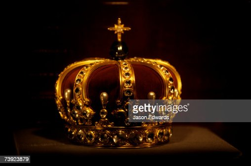 The Crown of Prussia on display at Burg Hohenzollern Castle.