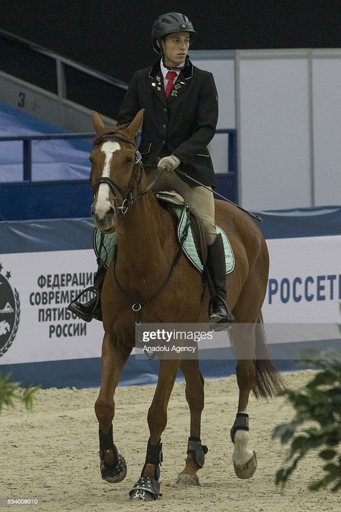 Burger Berndt (RSA) during the men's relay World Championship in modern pentathlon in Moscow in Olympic Sports Complex in Moscow, Russia, on May 24, 2016.