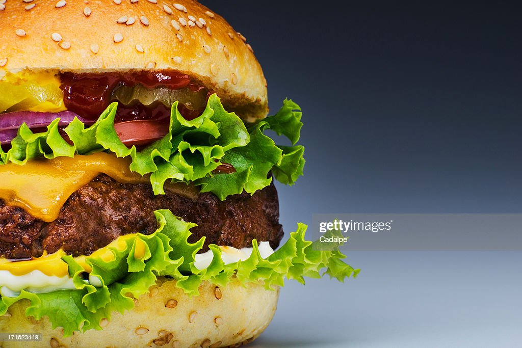 Burger, cropped : Stock Photo