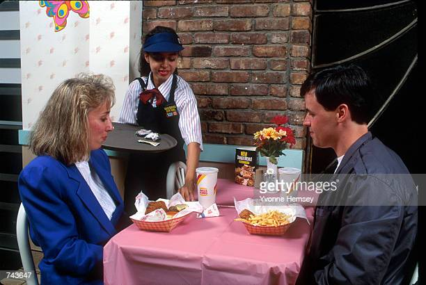 Burger King introduces its new table service in New York City October 1 1992