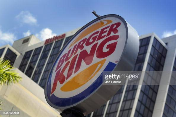 Burger King sign hangs outside a restaurant as reports indicate the company may be considering a sale of itself on September 1 2010 in Miami Florida...