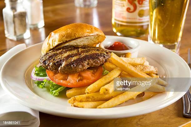 Burger with bun