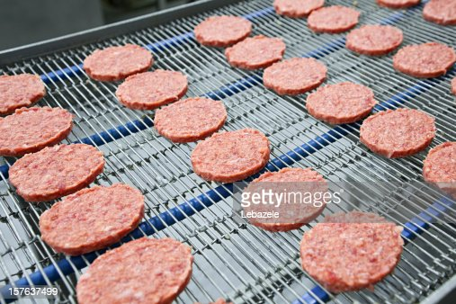 Burgers on Conveyor