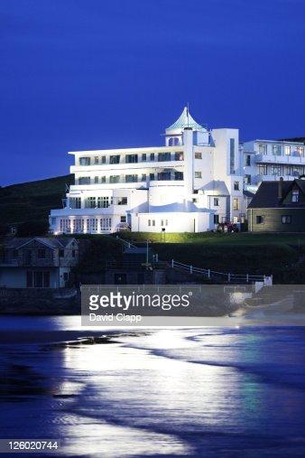 Burgh island art nouveau hotel bantham devon uk stock for Art deco hotel devon