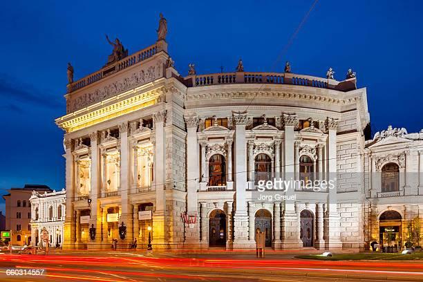 Burgtheater at dusk