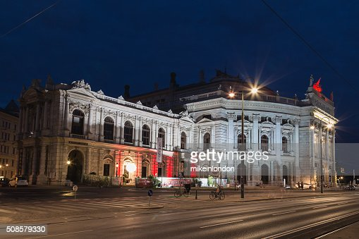 Burgtheater a Vienna : Foto stock