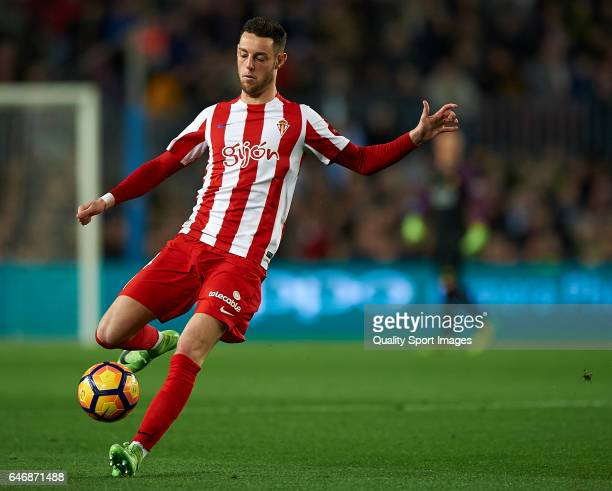 Burgui of Real Sporting de Gijon during the La Liga match between FC Barcelona and Real Sporting de Gijon at Camp Nou Stadium on March 1 2017 in...