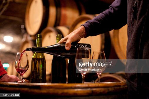 Burgundy wine tasting : Stock Photo