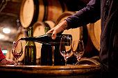 Burgundy wine tasting