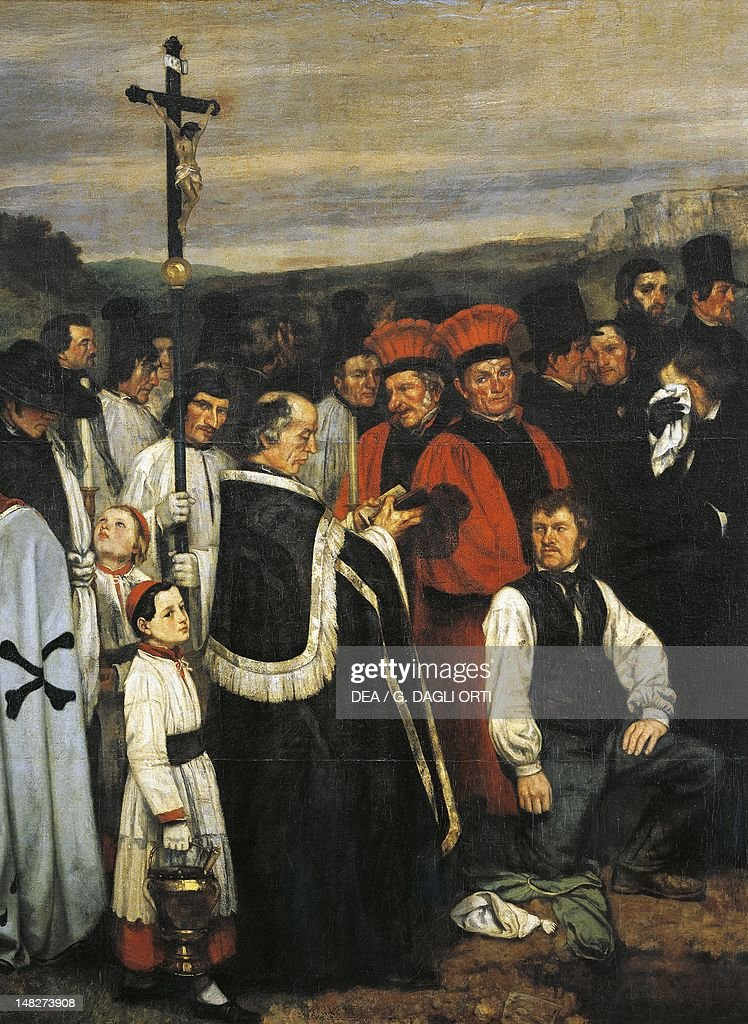 Burial at Ornans 18491850 by Gustave Courbet Detail Paris Musée D'Orsay