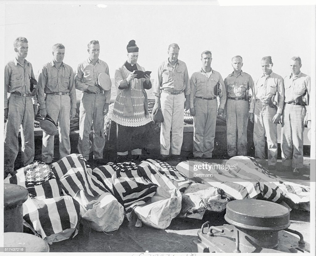Burial at Sea South Pacific Services are read at sea for the heroic dead who died on an LCI during an attack on Parry Island last in the Eniwetok...