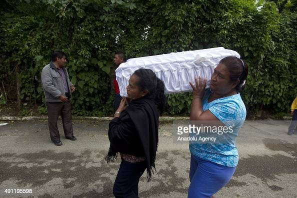 Burial of Cristina Cuyuch a two year old baby victim of landslide in the municipality of Santa Catarina Pinula about 10 miles east of Guatemala City...