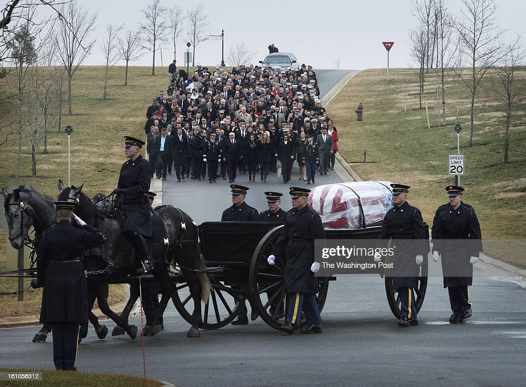 Burial service for U.S. Army Sgt. Aaron X. Wittman at Arlington National Cemetery on Friday, February 8, 2013. 28, Sgt. Wittman was supporting Operation Enduring Freedom at the time of his death. He was the first combat KIA of 2013. Sgt. Wittman is from Chester, VA.