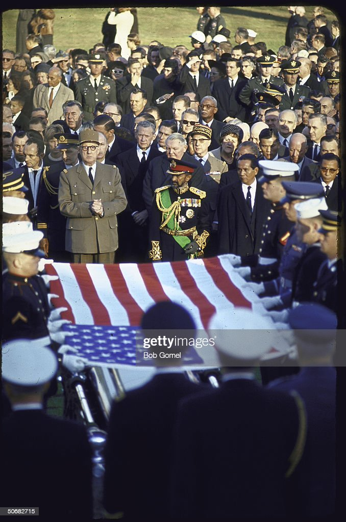 Burial services for Pres. John F. Kennedy, Arlington National Cemetery, Va.
