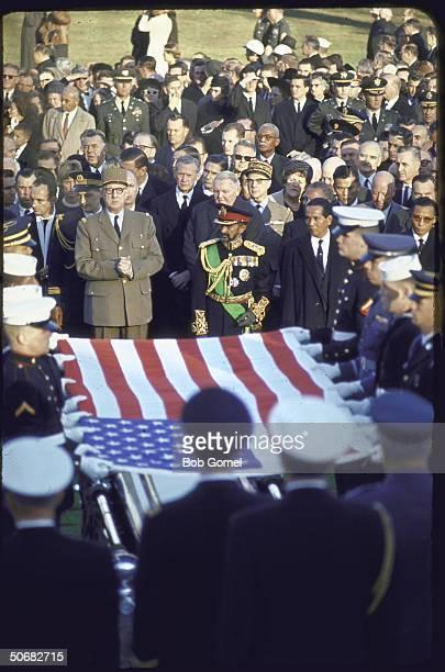 Burial services for Pres John F Kennedy Arlington National Cemetery Va