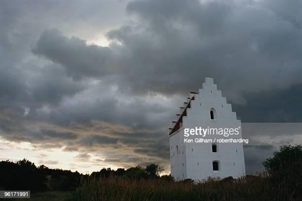 Buried church (Tilsandede kirke), Klitplantage Reserve, Skagen, North Jutland, Denmark