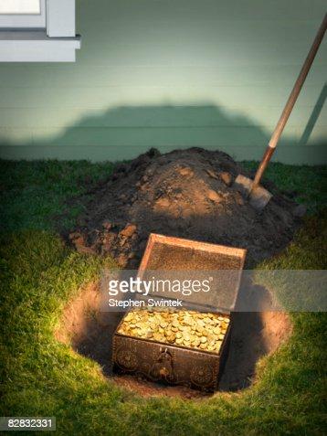Buried treasure in a residential back yard