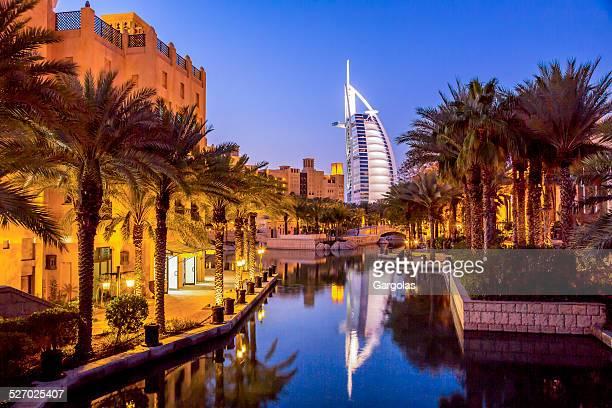 Burj Al Arab at dusk, Dubai, UAE