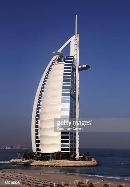 Burj Al Arab Hotel and beach, Jumeirah beach,Dubai