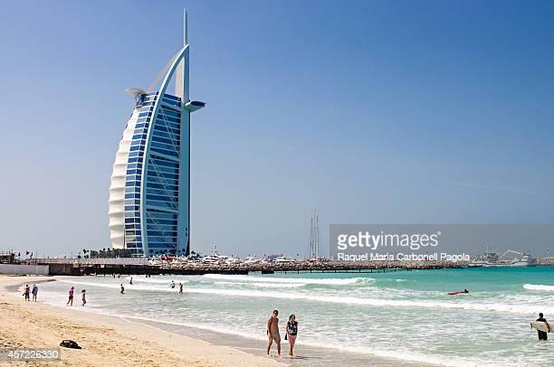 Burj Al Arab hotel by the beach