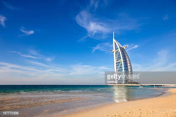 Burj Al Arab hotel from Jumeirah beach, Dubai
