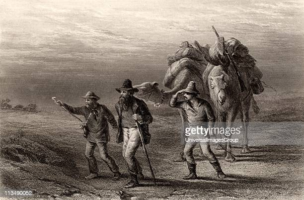 Burke and Wills Expedition to explore the interior of Australia Robert O'Hara Burke and William John Wills with John A King another member of the...