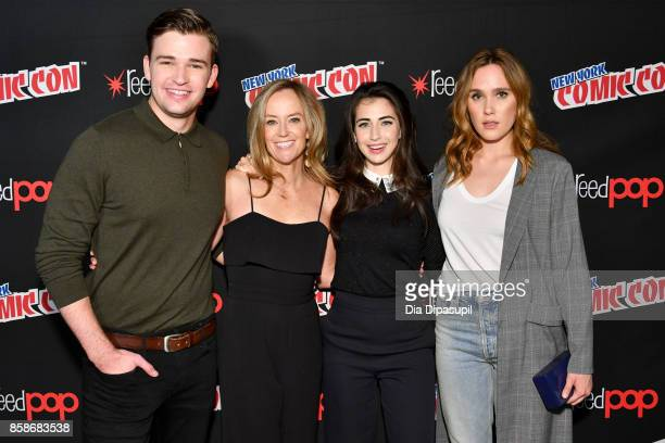 Burkely Duffield Dilan Gwyn and Eden Brolin attend the Freeform 'Shadow Hunters' and 'Beyond' Photo Call during 2017 New York Comic Con Day 3 on...