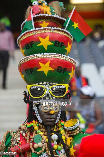 Burkina Faso supporter during the 2013 Orange African Cup of Nations match between Burkina Faso and Zambia from Mbombela Stadium on January 29 2013...