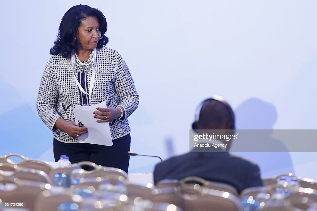 Burkina Faso's Deputy Foreign Minister Rita Solange Agneketom Bogore takes part in the plenary session during the Midterm Review of the Istanbul Programme of Action at Titanic Hotel in Antalya, Turkey on May 27, 2016. The Midterm Review conference for the Istanbul Programme of Action for the Least Developed Countries takes place in Antalya, Turkey from 27-29 May 2016.