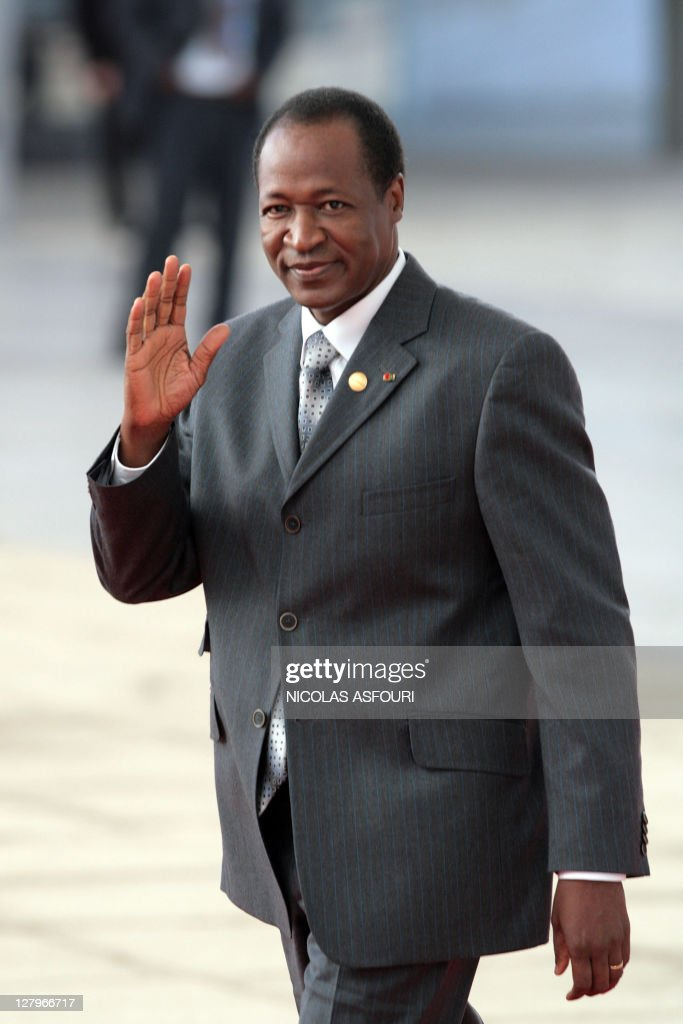 Burkina Faso's President <a gi-track='captionPersonalityLinkClicked' href=/galleries/search?phrase=Blaise+Compaore&family=editorial&specificpeople=225022 ng-click='$event.stopPropagation()'>Blaise Compaore</a> arrives at a European Union and Africa summit 08 December 2007, in Lisbon. The leaders of Europe and Africa were to begin a landmark summit in Lisbon on Saturday, designed to forge a new partnership of equals but with expectations cooled by the long shadow of colonial history.