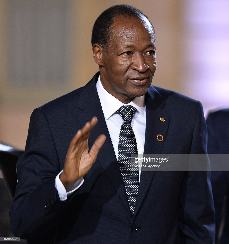 Burkina Faso's President Blaise Compaore arrives for a dinner with the French President as part of the Summit for Peace and Security in Africa at the Elysee Palace in Paris, France on December 6, 2013.