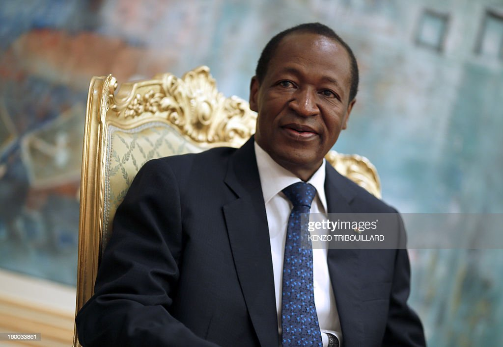 Burkina Faso's President <a gi-track='captionPersonalityLinkClicked' href=/galleries/search?phrase=Blaise+Compaore&family=editorial&specificpeople=225022 ng-click='$event.stopPropagation()'>Blaise Compaore</a> smiles on January 23, 2013 during a meeting with France's Junior Minister for Foreign Countries and Development at the Presidential Palace in Ouagadougou. The conflict in Mali has caused nearly 150,000 people to flee the country, while about another 230,000 are internally displaced, the UN humanitarian agency said on January 15, 2013. According to OCHA, the UN High Commissioner for Refugees has registered 144,500 refugees in neighbouring countries - 54,100 in Mauritania, 50,000 in Niger, 38,800 in Burkina Faso and 1,500 in Algeria -.