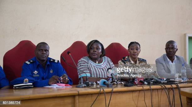 Burkina Faso's prosecutor Maiza Sereme speaks during a press conference after a terrorist gunmen attack at a restaurant on Kwame Nkrumah Avenue in...