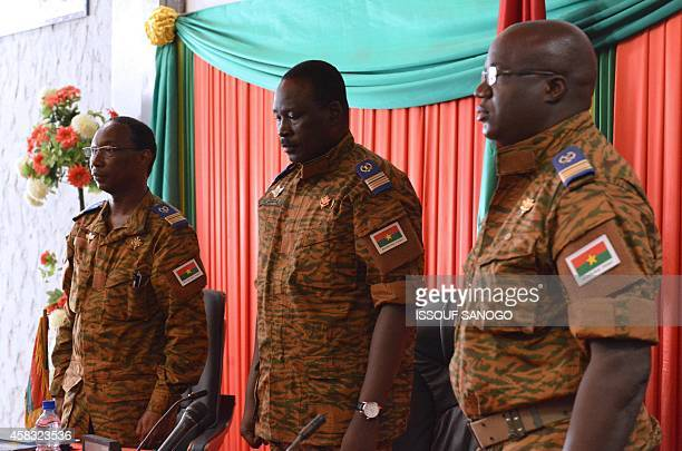 Burkinese LieutenantColonel Isaac Zida named by Burkina Faso's army as interim leader following the ousting of president Blaise Compaore observes a...