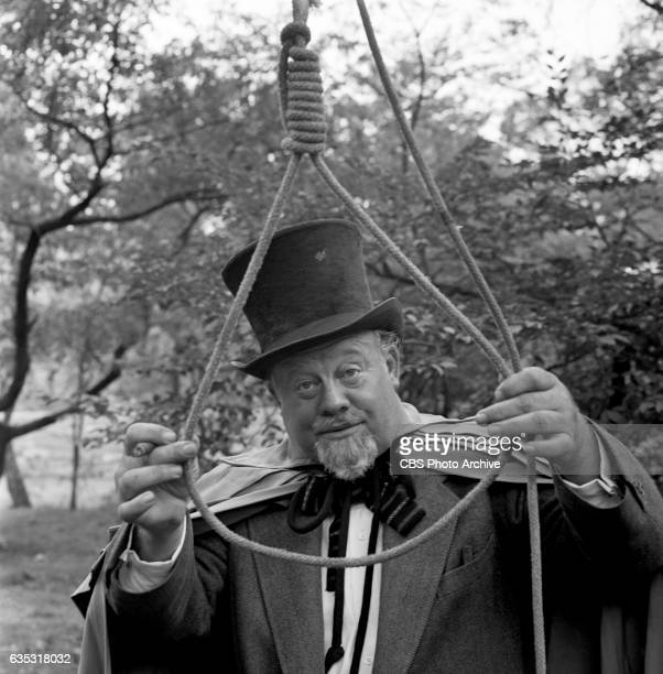 Burl Ives poses in western clothes for his role as a hangman in the General Electric Theater television presentation of 'The Second Stranger'...