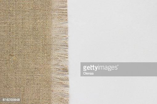 burlap on white background : Foto de stock