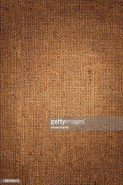 Burlap sack background.