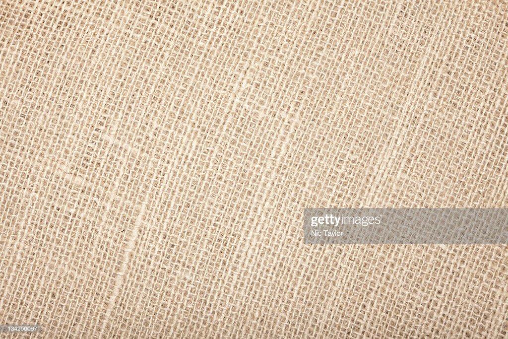 Burlap Texture; Macro