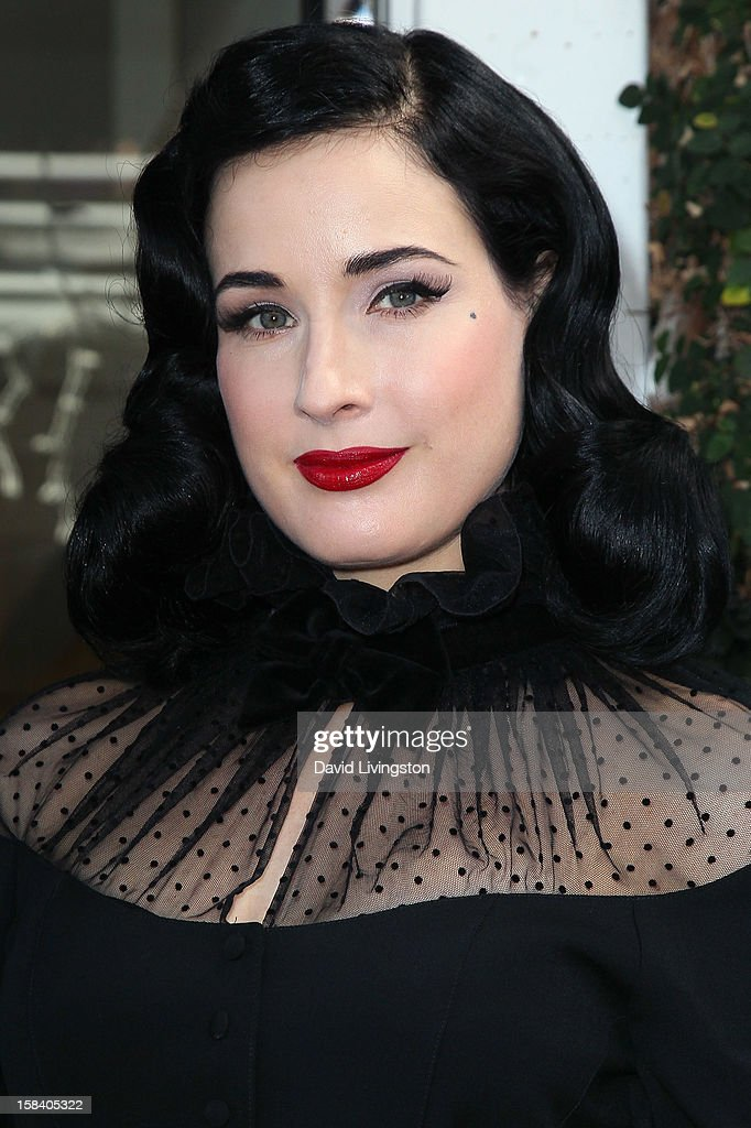 Burlesque dancer <a gi-track='captionPersonalityLinkClicked' href=/galleries/search?phrase=Dita+Von+Teese&family=editorial&specificpeople=210578 ng-click='$event.stopPropagation()'>Dita Von Teese</a> attends the U.S. launch of her fragrance 'Rouge' at Apothia by Ron Robinson at Fred Segal Melrose on December 15, 2012 in Los Angeles, California.