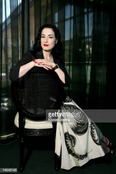 Burlesque dancer Dita Von Teese poses for a portrait on day three of Rosemount Australian Fashion Week Spring/Summer 2007/08 at the Overseas...